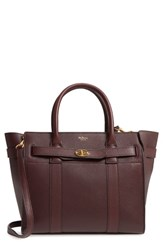Mulberry Small Bayswater Leather Satchel Burgundy Oxblood