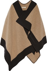 Burberry Two Tone Wool And Cashmere Blend Cape