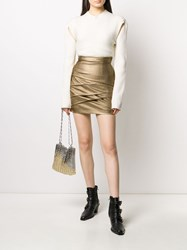 Philosophy Di Lorenzo Serafini Short Metallic Wrap Detail Skirt 60