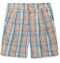 Arpenteur Checked Cotton Broadcloth Shorts Multi