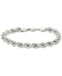 Giani Bernini Rope Chain Bracelet In Sterling Silver Created For Macy's