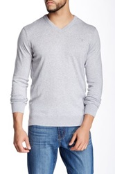 Barbour V Neck Sweater Gray