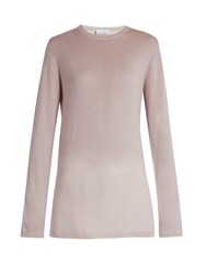 Raey Long Line Fine Knit Cashmere Sweater Light Pink
