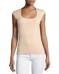 Michael Kors Collection Cap Sleeve Cashmere Top Nude Women's Size S