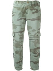 Current Elliott Cropped Cargo Trousers Green