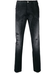 Faith Connexion Distressed Faded Jeans Black