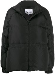Ganni Relaxed Fit Puffer Jacket Black