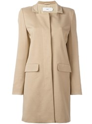 Closed Square Neck Coat Nude Neutrals
