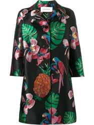 Valentino Tropical Dream Oversized Coat Black