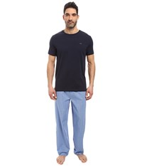 Michael Kors Poplin Sleep Set Soft Blue Men's Pajama Sets