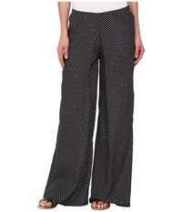 Kut From The Kloth Full Leg Pant With Released Pleat Black White Women's Casual Pants