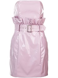 Fleur Du Mal Pvc Paper Bag Dress Pink