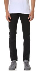 Naked And Famous Super Skinny Guy Solid Black Selvedge Jeans