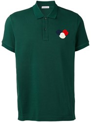 Moncler Chest Logo Polo Shirt Green