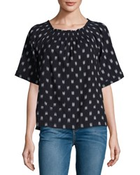 Current Elliott The Smock Dotted Ikat Tee Blue