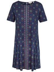 Fat Face Folk Geo Dress Navy