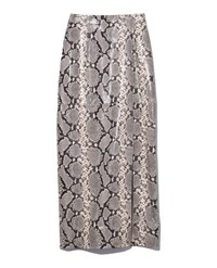Attico Snake Style Leather Skirt In Natural