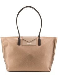 Lancaster Shopper Tote Metallic