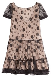 Red Valentino Lace Dress With Self Tie Back Black