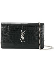 Saint Laurent Monogram Chain Wallet Calf Leather Black