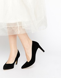 Truffle Collection Tegan Point Court Shoes Blacksuede