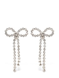 Ca And Lou Louise Bow Clip On Earrings Silver