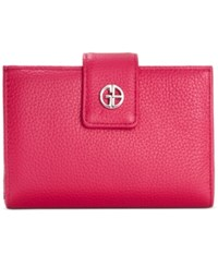 Giani Bernini Softy Leather Wallet Only At Macy's Raspberry