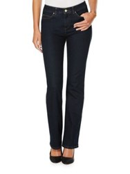 Rafaella Petite Five Pocket Cotton Blend Jeans Blue