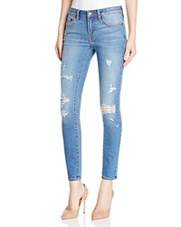 Jean Shop Heidi Super Skinny Destroyed Jeans In Mid Wash