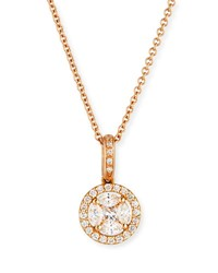 Zydo Mosaic Round Diamond Pendant Necklace In 18K Rose Gold