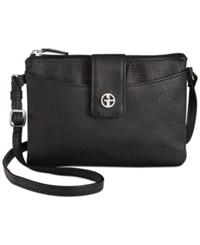 Giani Bernini Leather Softy Accordion Crossbody Black