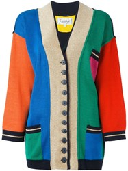 Jc De Castelbajac Vintage Colour Block Cardigan Multicolour