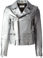 Saint Laurent Biker Jacket Metallic