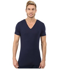 Calvin Klein Underwear Wide Neck Short Sleeve V Neck Blue Shadow Men's Clothing
