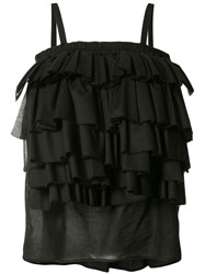 Martin Grant Ruffled Blouse Women Cotton 36 Black
