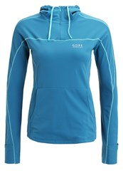 Gore Running Wear Essential Long Sleeved Top Ink Blue Scuba Blue Turquoise