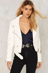 Nasty Gal Rover Vegan Leather Moto Jacket 77224
