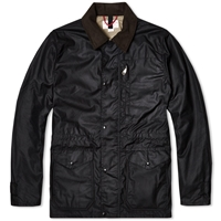 Filson Cover Cloth Mile Marker Coat Black