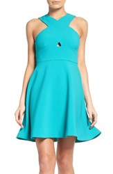 Likely Women's Kensington Fit And Flare Dress Turquoise