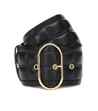 Acne Studios Quilted Leather Belt Black