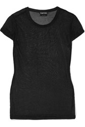 Tom Ford Metallic Knitted Top Black