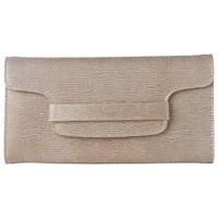 Lk Bennett L.K. Laura Clutch Bag Blush Metallic Leather