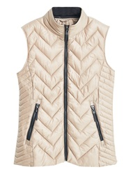 Mango Quilted Gilet Light Beige