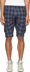 Mostly Heard Rarely Seen Blue Plaid Regiment Sarouel Shorts