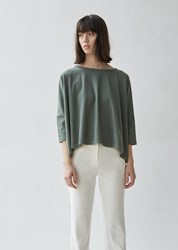 6397 Square Relaxed Cotton Tee Sage