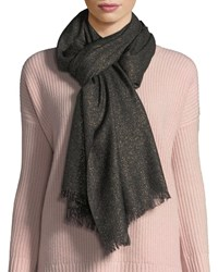 Sofia Cashmere Lurex Evening Wrap Black Gold