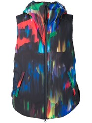 Y 3 Abstract Print Shell Gilet Black