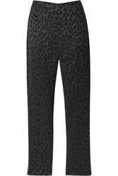 Veronica Beard Honolulu Satin Jacquard Skinny Pants Black