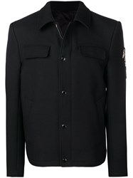 Alexander Mcqueen Crawling Skelleton Jacket Black