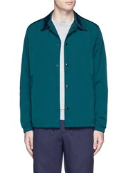 Theory Snap Front Coach Jacket Green